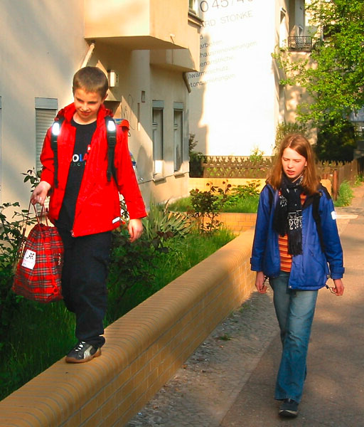Schulweg zu Fuß