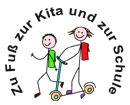 Logo: Zu Fuß zur Kita und zur Schule